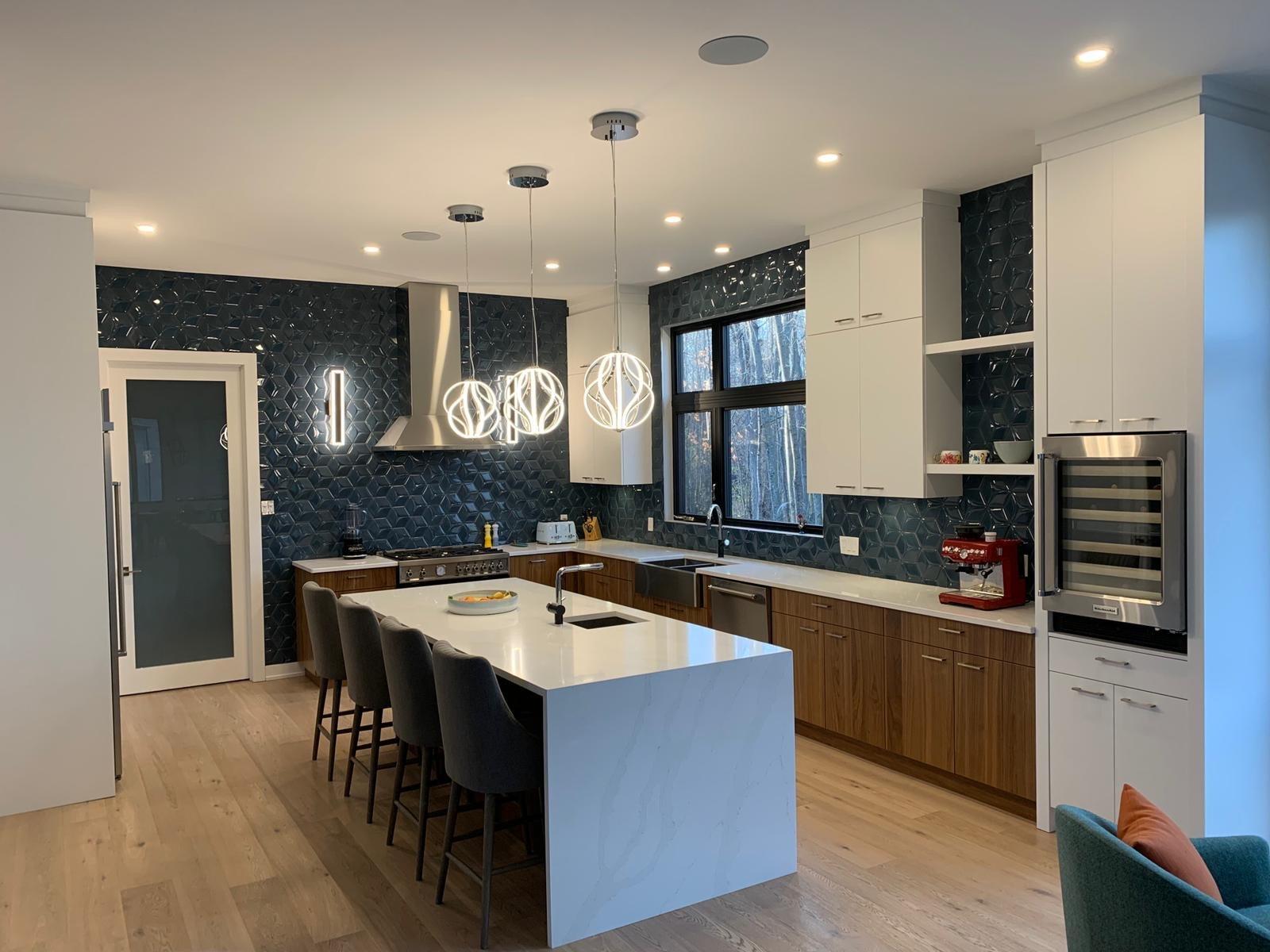 Newly installed granite kitchen countertops in Ottawa